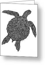 Tribal Turtle IIi Greeting Card by Carol Lynne