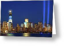 Tribute Of Lights Nyc 2012 Greeting Card