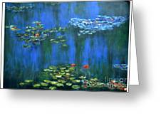 Tribute To Monet 1 Greeting Card