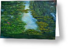 Tribute To Monet 3 Greeting Card