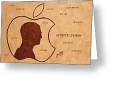 Tribute To Steve Jobs Greeting Card