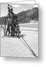 Tribute To The Mining Family - Wallace Idaho Greeting Card