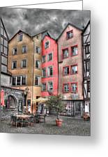 Tricolor Houses Greeting Card