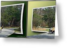 Trike Wave - Gently Cross Your Eyes And Focus On The Middle Image Greeting Card