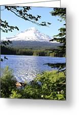 Trillium Lake At Mt. Hood Greeting Card