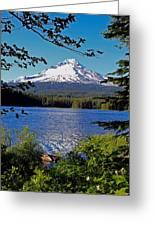 Trillium Lake At Mt. Hood II Greeting Card