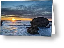 Trinidad Sunset In Autumn Greeting Card