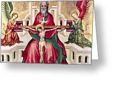 Trinity And Christ Greeting Card