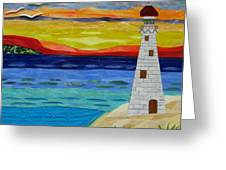 Trinity Lighthouse On The Bay Of Paradise Greeting Card