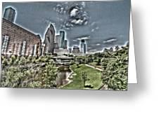 Trippy Houston Greeting Card