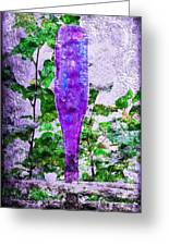 Triptych Cobalt Blue Purple And Magenta Bottles Triptych Vertical Greeting Card