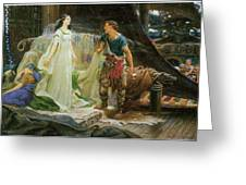 Tristram And Iseult Greeting Card