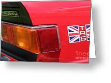 Triumph Tr6 Tail Light Greeting Card