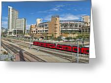 Trolley To Petco Park Greeting Card