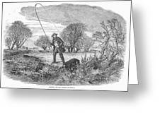 Trolling For Jack, 1850 Greeting Card