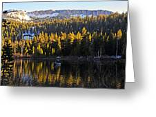 Trolling On Twin Lakes Greeting Card