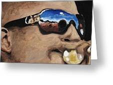 Trombone Shorty At The Jazz Fest Greeting Card by Terry J Marks Sr