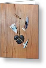 Trompe Loeil - How To Draw A Blue Bird Greeting Card by Elena Kolotusha