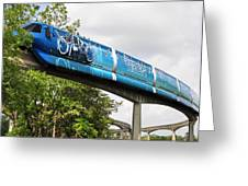 Tron A Rail Greeting Card by David Lee Thompson