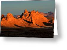 Trona Pinnacles Panorama Greeting Card by Bob Christopher