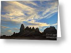 Trona Pinnacles Windswept Greeting Card