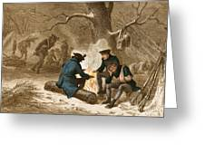 Troops At Valley Forge Greeting Card