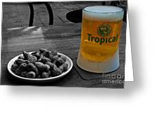 Tropical Beer Greeting Card