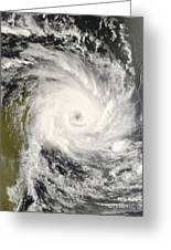 Tropical Cyclone Ivan Over Madagascar Greeting Card