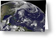 Tropical Cyclones Katia, Lee, Maria Greeting Card