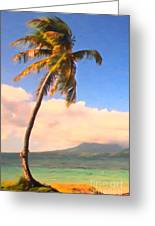 Tropical Island 2 - Painterly Greeting Card