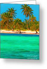 Tropical Island 5 - Painterly Greeting Card