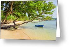 Tropical Island Scenery Greeting Card