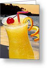 Tropical Orange Drink Greeting Card