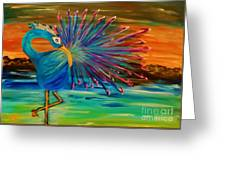 Tropical Peacock Greeting Card