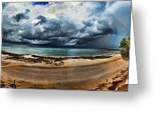 Tropical Seasonal Monsoon Rain V3 Greeting Card