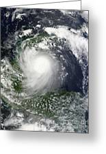 Tropical Storm Karl Over The Yucatan Greeting Card
