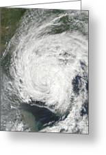 Tropical Storm Muifa Over China Greeting Card