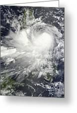 Tropical Storm Nock-ten Greeting Card