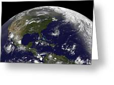 Tropical Storms On Planet Earth Greeting Card