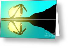 Tropical Sunrise Number 5 Greeting Card