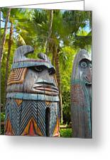 Tropical Tikis Greeting Card