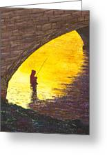 Trout Fishing Greeting Card by Garry McMichael