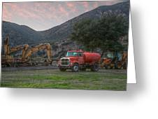 Truck And Tractors In Hdr Greeting Card
