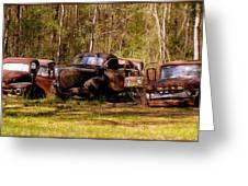 Truck Graveyard Greeting Card