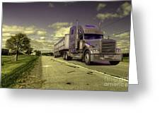 Truck On  Greeting Card