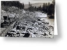 Truckee River - California - C 1865 Greeting Card