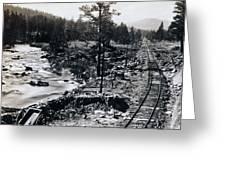 Truckee River - California Looking Toward Donner Lake - C 1865 Greeting Card