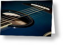 True Blue Acoustic Guitar Greeting Card