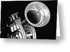 Trumpet Up Front Greeting Card