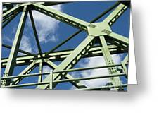 Truss Greeting Card by Arlene Carmel